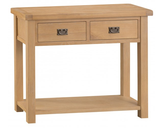 Country Oak Medium Console Table