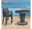 6 Seat Round Rattan Bar Set