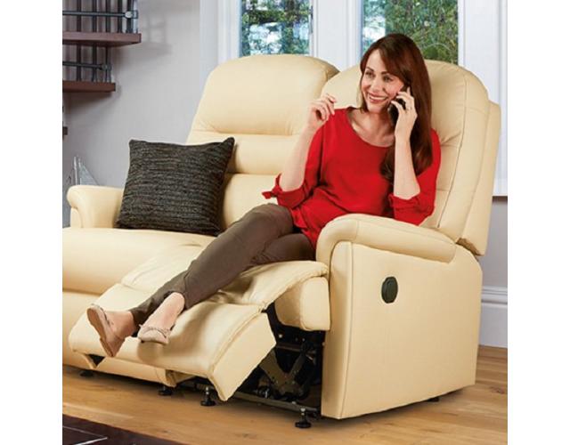 Sherborne | Keswick Standard Leather Reclining 2-Seater Settee