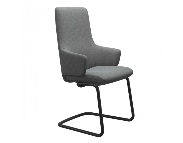 Stressless | Laurel High Back Dining Chair with Arms & Steel Legs