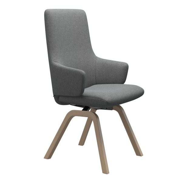 Stressless   Laurel High Back Dining Chair with Arms & Wooden Legs