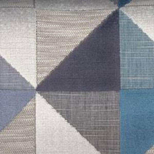 S3 7242 - Silver Geometric Velvet  +