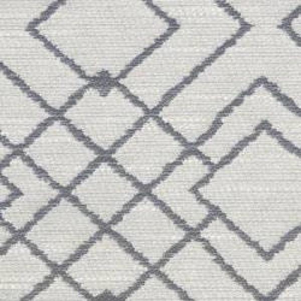 7115 - Charcoal Linen Marzan Lined Geo  +