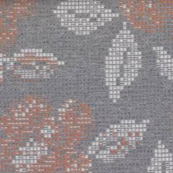 7769 Mandarin Grey Pixel Floral  +