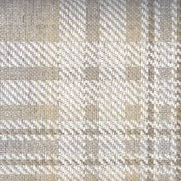 7543 - Butterscotch French Grey Plaid Chenille  +