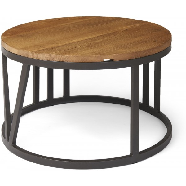 Boston Large Coffee Table with Iron Frame