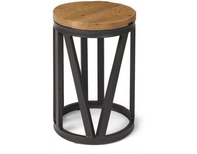 Boston Round Wine Table with Iron Frame