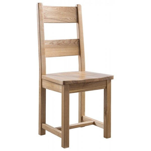 Colorado Oak Farmhouse Dining Chair with Wooden Seat