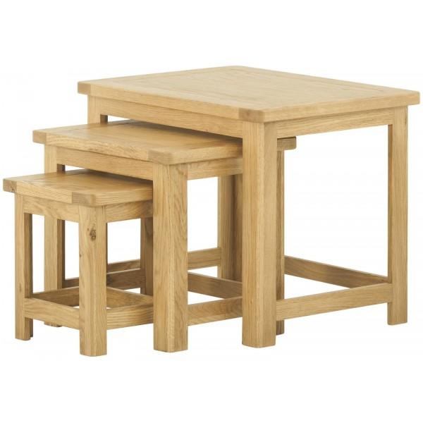 Portland Oak Nest of Tables