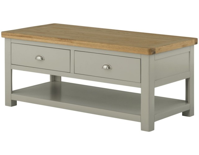 Portland Stone Grand Coffee Table with 2 Drawers