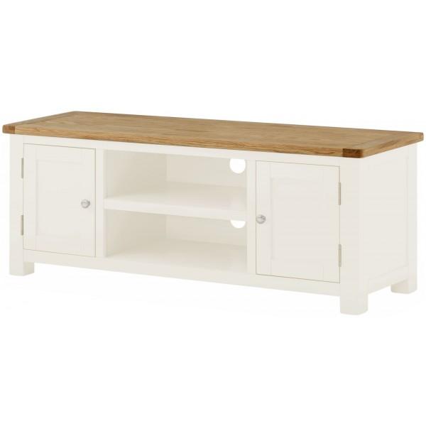 Portland White Large TV Cabinet