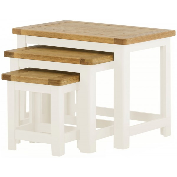 Portland White Nest of Tables
