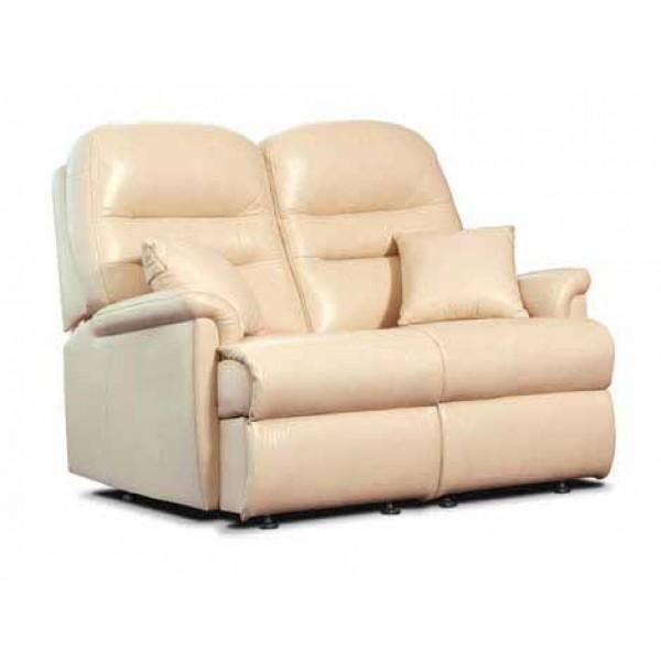 Sherborne | Keswick Standard Leather Fixed 2-Seater Settee