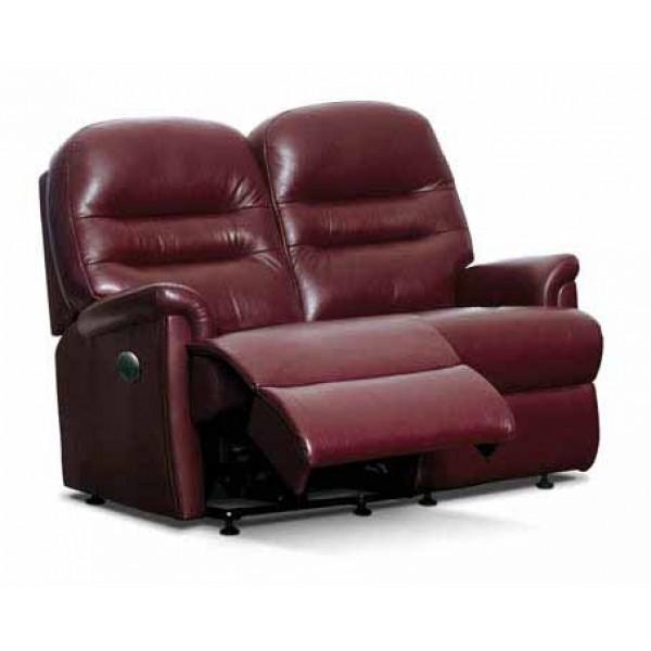Sherborne | Keswick Small Leather Reclining 2-Seater Settee