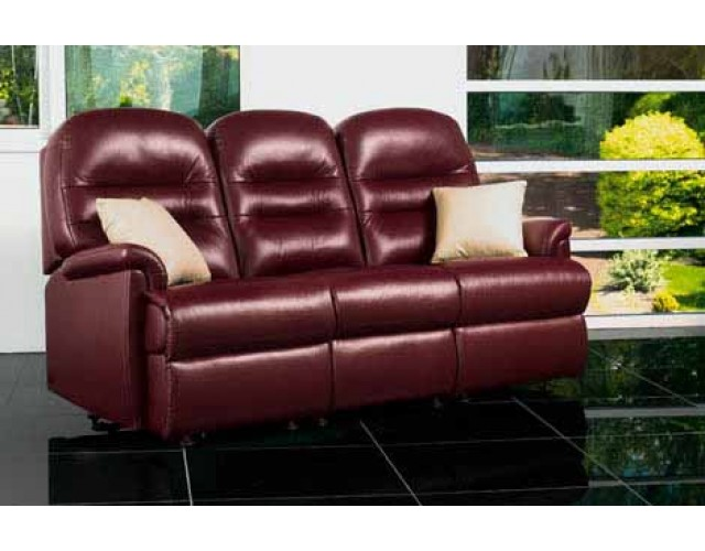 Sherborne | Keswick Small Leather Fixed 3-Seater Settee