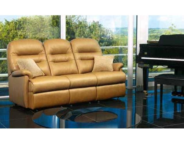 Sherborne | Keswick Standard Leather Fixed 3-Seater Settee