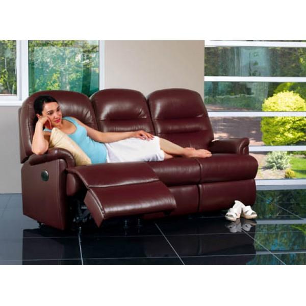 Sherborne | Keswick Small Leather Reclining 3-Seater Settee