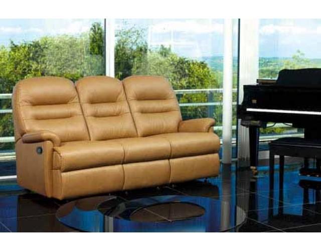 Sherborne | Keswick Standard Leather Power Reclining 3-Seater Settee