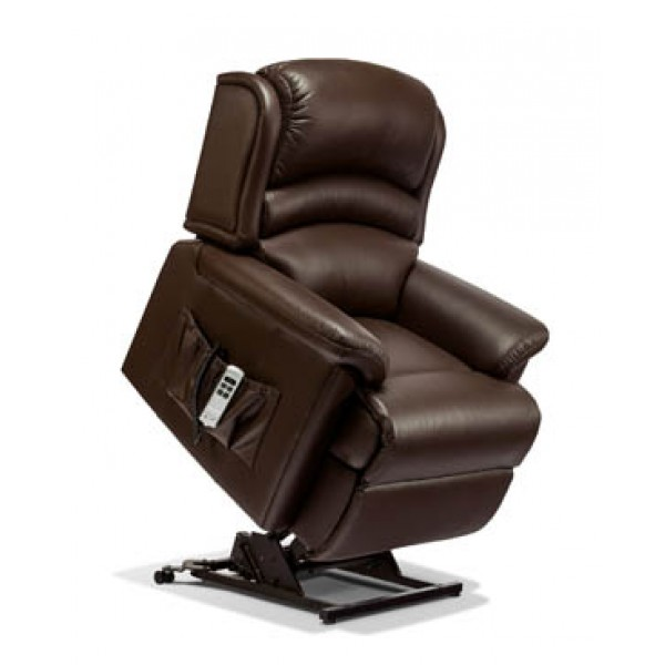 Sherborne | Olivia Small 2-Motor Leather Electric Riser Recliner