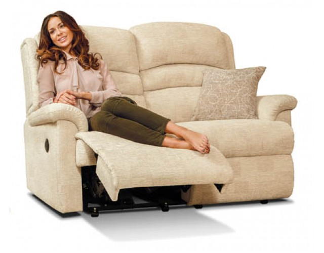 Sherborne   Olivia Standard Fabric Reclining 2-Seater Settee