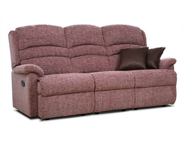Sherborne | Olivia Standard Fabric Reclining 3-Seater Settee
