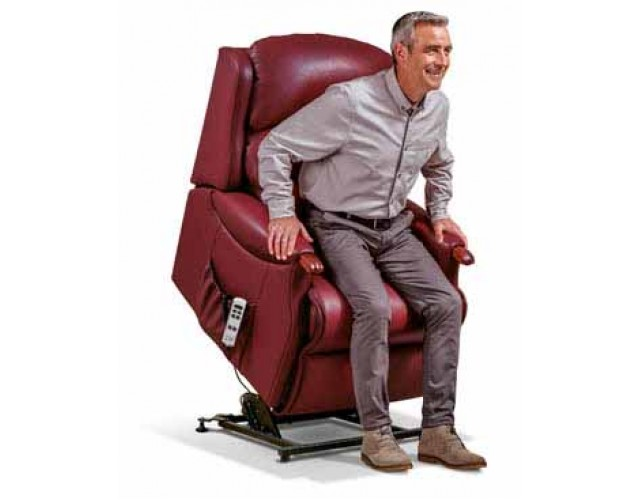 Sherborne | Malham Royale 2-Motor Leather Electric Riser Recliner